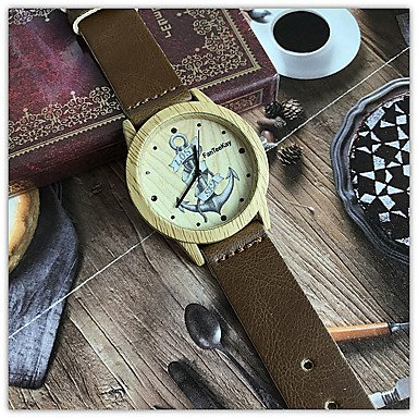 Amazon.com : Mens Watches Womens Anchor Wooden Bamboo Wrist Watch Dress Style Female Ladies Relojes De Marca Relogio Gift Womens Watches (Color : Brown) ...