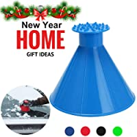Magic Scrape A Round Ice Scraper Car Windshield Snow Scraper Cone Shaped Windshield Snow Funnel Shovel Tool Will Scrape Pesky Frost and Ice from Windscreens and Side Windows with Ease