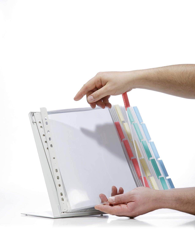 farbig sortiert Durable 569200 Sichttafelwandhalter Function Wall 20, mit Sichttafeln A4