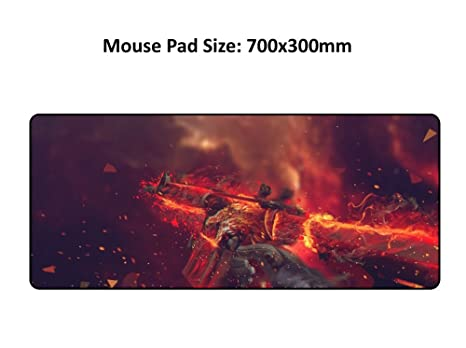 fe543b0e861 Amazon.com: XL Large Game Gaming mouse pad Mice mat Precision Lock For WOW  CSGO World of Tanks World Map LOL Computer laptop keyboard: Everything Else