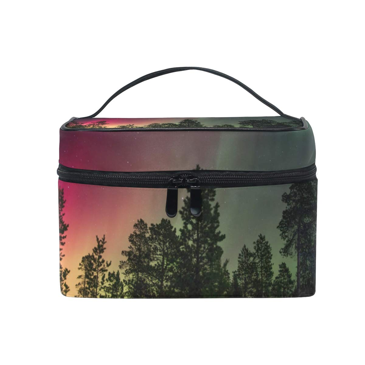 f6d5fc9fac68 Amazon.com : Dragon Sword Forest Aurora Borealis Cosmetic Toilet Bag ...