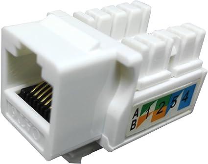 Qty 75 Ethernet RJ45 Cat5E Computer Keystone Jack White-FREE SHIP!