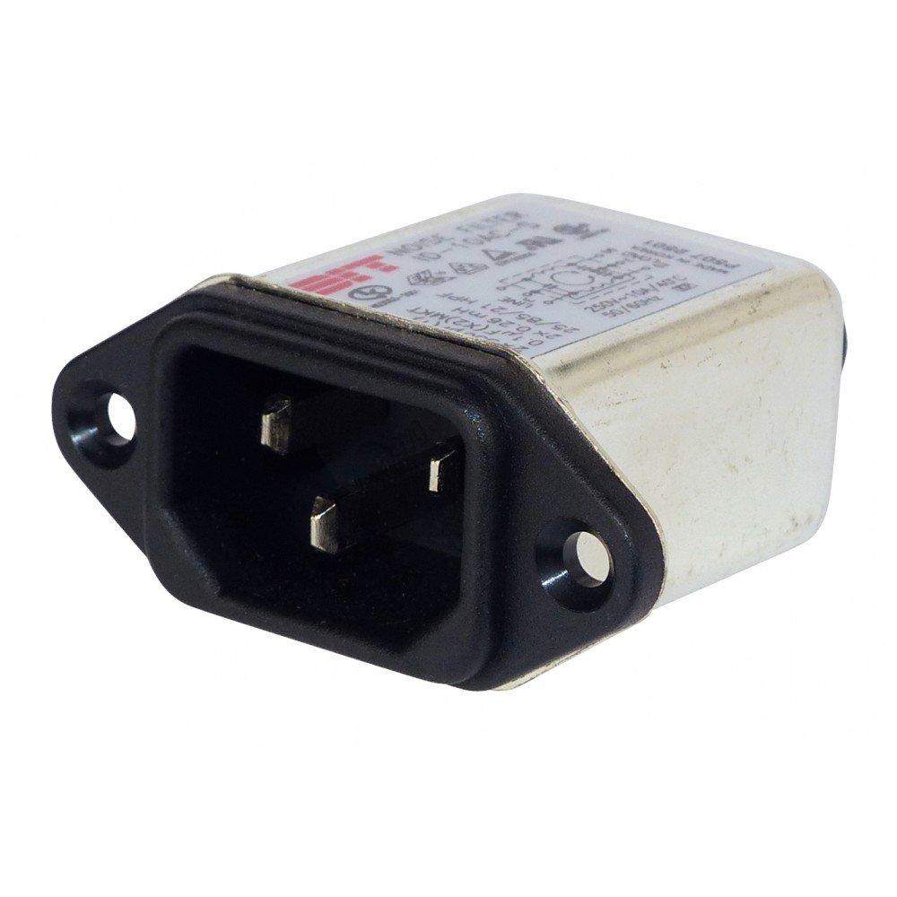 XTC Filtre dalimentation avec fiche femelle 250/V//AC 10/A Encastrer Noise Filtre pour tension r/éseau