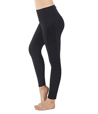 Munvot Pantalon Running avec Poches Legging Sport Yoga Jogging Femme  Collants Grande Taille Couture de Maille bee7e401205