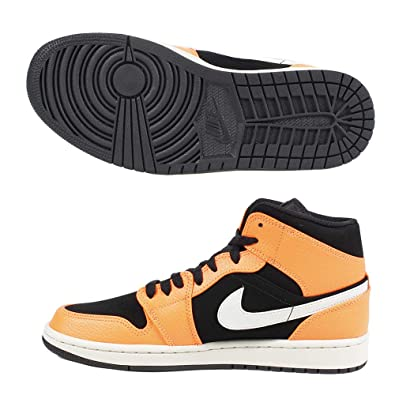 finest selection 03faf 76e9b Nike Men s Air Jordan 1 Mid Basketball Shoes, (Black Cone Lt Bone