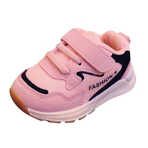 FAMILIZO Zapatillas Bebé Niños niñas Malla Zapatillas Deportivas de Estilo Deportivo para Correr Zapatos Bebe Niña Suela Blanda Antideslizante: Amazon.es: ...