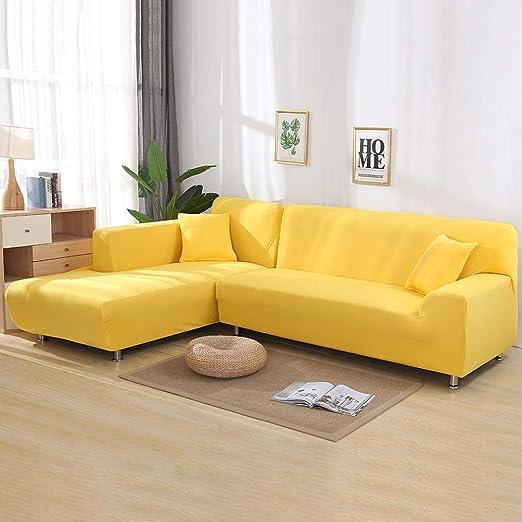 Fundas Sillon,Funda de sofá elástica en forma de L para sala ...