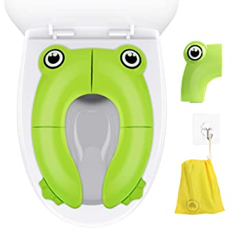 Yellow Foldable Potty Seat,Gimars Upgrade Portable Baby Toilet Training Seat with Four Non Slip Silicone Pads /& Carry Bag