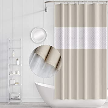 Funria Duschvorhang Waschbar Mit Haken Wasserdichter Badezimmer
