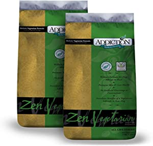 Addiction Zen Vegetarian Dry Dog Food, Rich in Isoflavones and Antioxidants, All Natural, Grain Free, Gluten Free Dog Food, Made from New Zealand, for All Dog Life Stages
