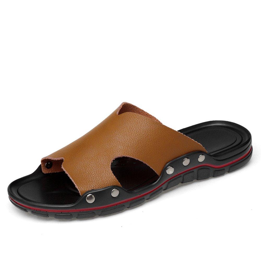 Slipper de tacón Plano para Hombre en Zapatilla de Moda 40 EU Light Brown