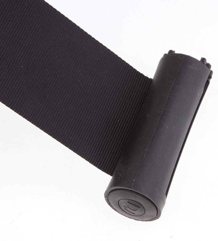 2 x Gurtkassette mit Gurtband zur Wandmontage Schwarz 2 m Personenleitsystem