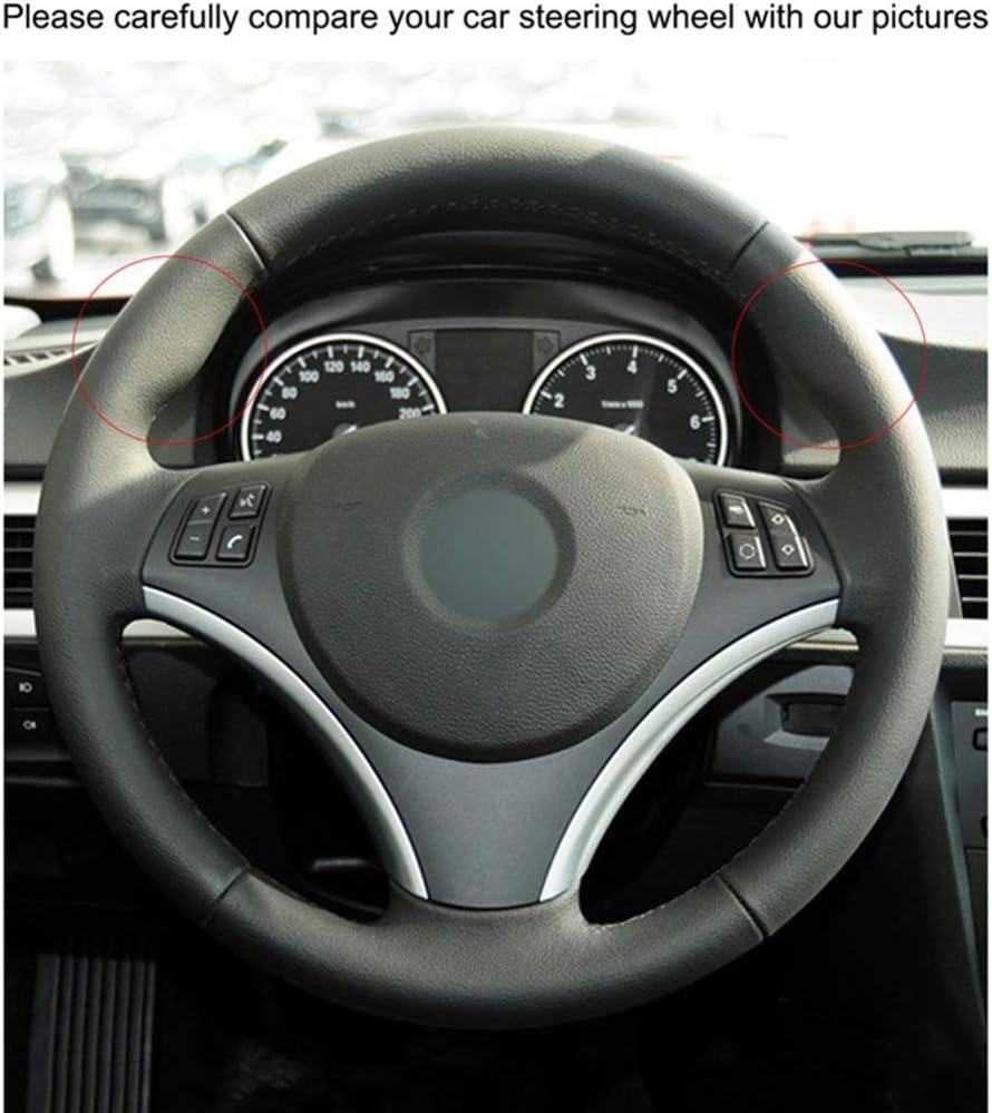 pour BMW E90 320i 325i 330i 335i E87 120i 130i 120d LOIJNAD Couvre-Volant de Voiture en Cuir su/éd/é Noir Cousu /à la Main