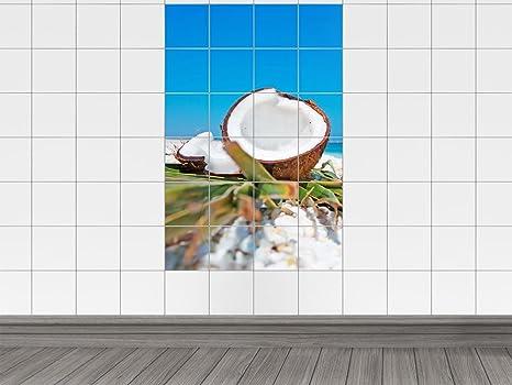 Piastrelle adesivo piastrelle quadro di noce di cocco di mare mare
