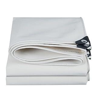 YFF-Telone LIYFF- Bianco Ombra Esterna Heavy Duty incatramata Multifunzione Tarp Spessore 0,6 Millimetri Strato a Terra Coperture per Camping, Pesca, Giardinaggio (Dimensioni : 2MX3M)