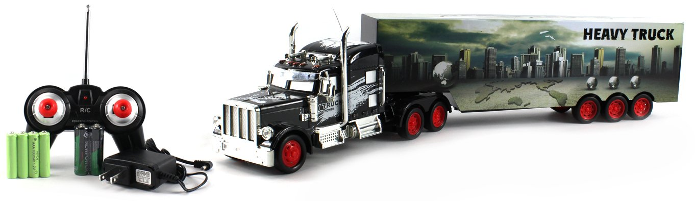 Amazon.com: Heavy City 12 Semi Electric RC Truck Full Cargo Trailer 1:36  Scale RTR Ready To Run, Rechargeable: Toys U0026 Games