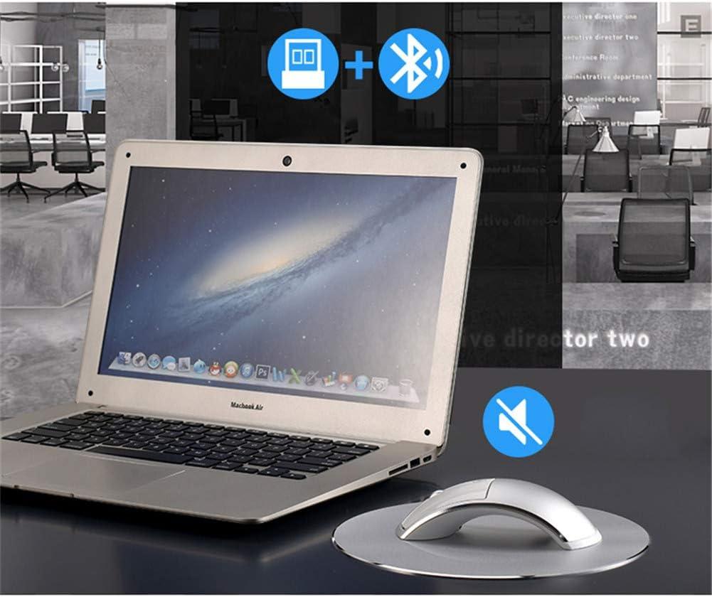 2.4G USB Sans Fil Bluetooth + Souris Rechargeable Silencieuse Souris De Jeu Pour Macbook Lenovo HP Dell Asus PC Portable Souris D'ordinateur,D'or Black