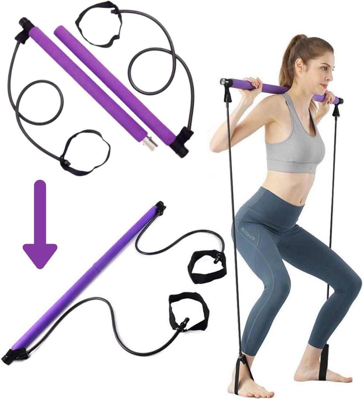 Home Exercise Sports Yoga Mat Pilates Ball Bar Tennis Rebound Core Training Band