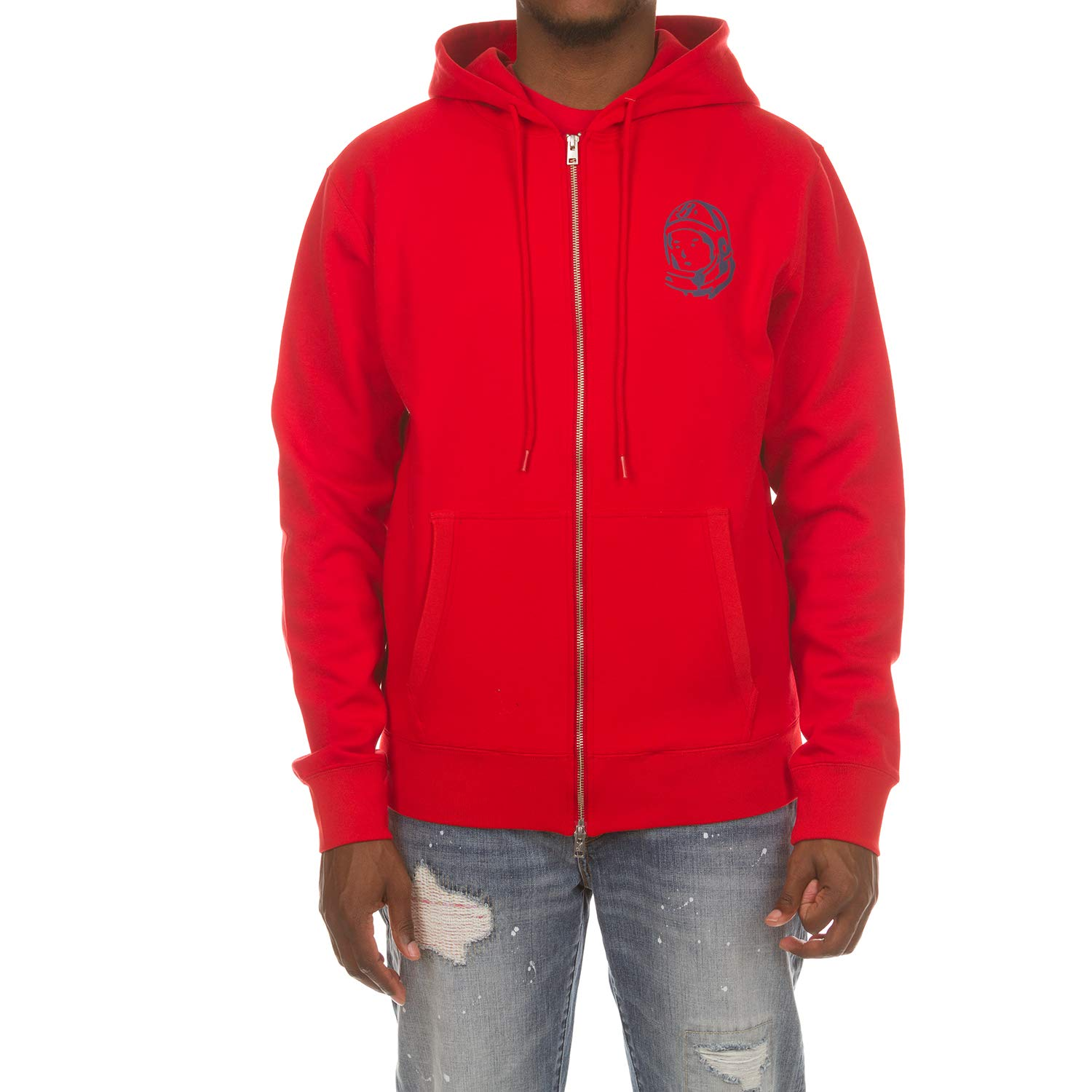 320d32d8123 Amazon.com  Billionaire Boys Club BB Zip Logo Hoodie in Black and Red 881-8304   Clothing