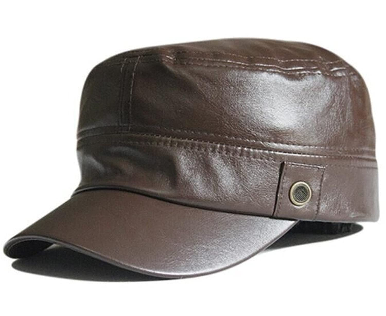 Bueno wreapped zerci piel sintética Flex-fit Militar sombrero con banda  elástica cadetes del ejército bb0292ee2fa