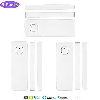 3 Packs El detector de sensor de imán de puerta de ventana ...