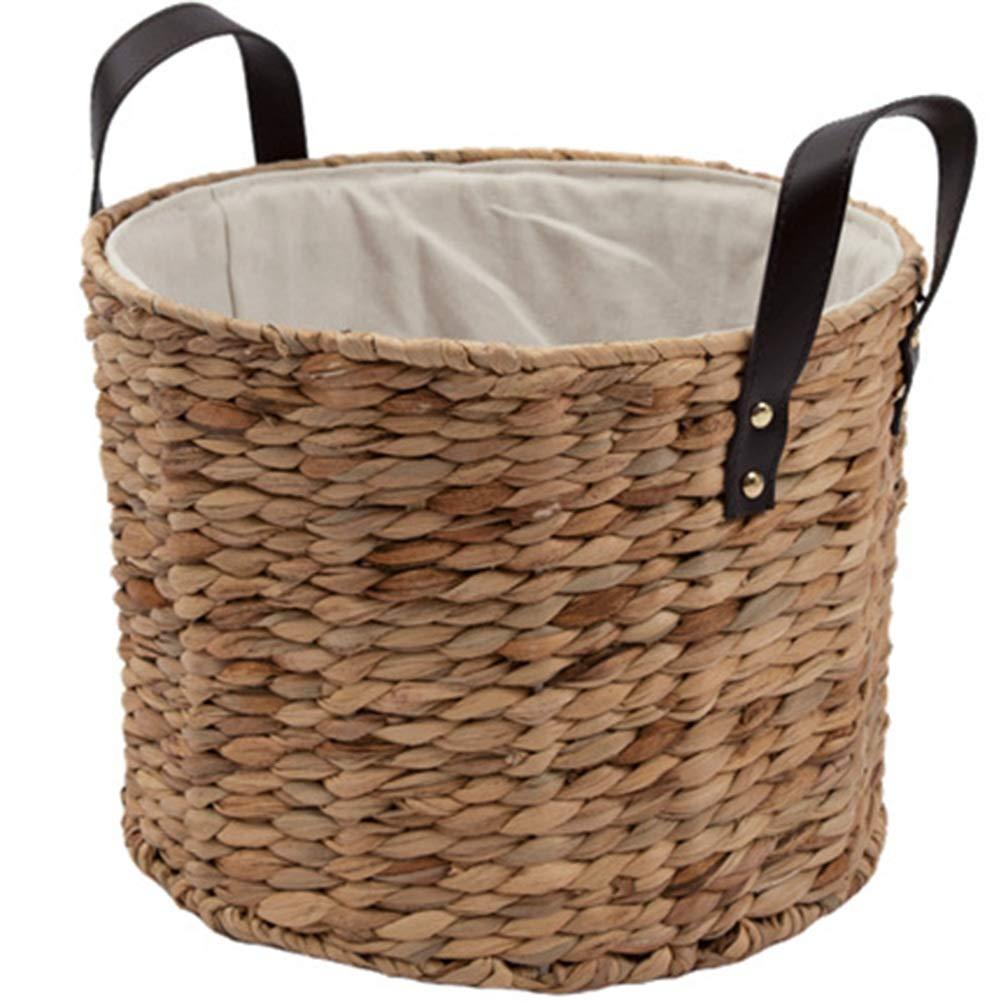 収納バスケットランドリーバスケットランドリーダンパー柳織りカバーなしウッドカラーランドリー収納 HENGXIAO (色 : 木の色, サイズ さいず : Large) B07QCR7XLZ 木の色 Large