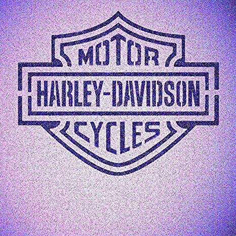Motorcycle Double Sheild Stencil Mylar Biker Stencils