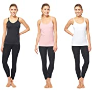 3 PACK OF Maternity Nursing Tank Top and Cami Shirts ( 40013 black/white/blush ) (Small, A)