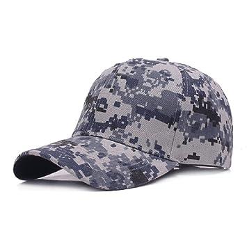 Demarkt 1x Hombres Mujeres Camuflaje al Aire Libre Sports Cap Gorra de Béisbol Ejército Caza Visera Sombrero Sol al Aire Libre Deporte (Azul): Amazon.es: ...