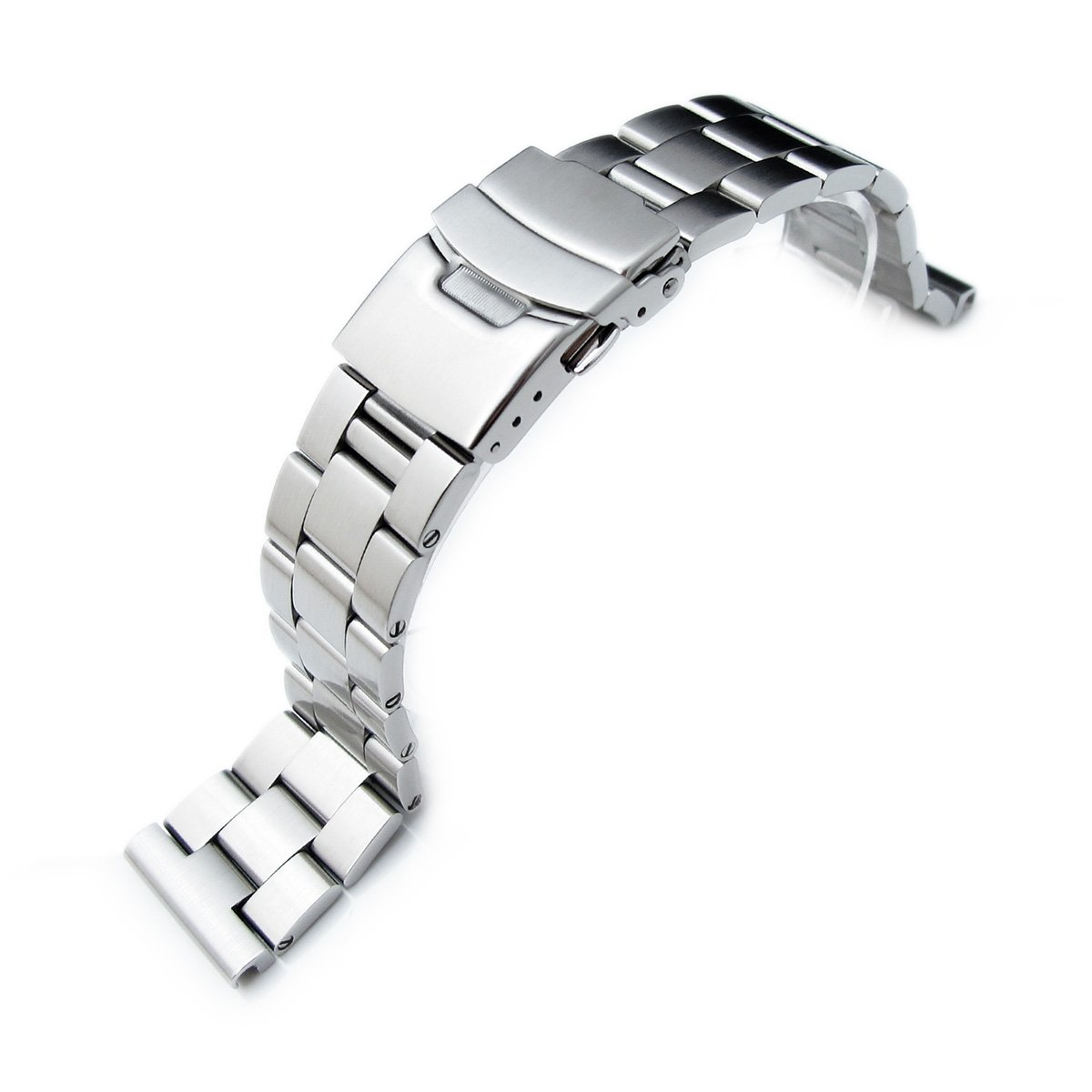 22mm L316 Solid Stainless Steel Oyster Straight End Watch Band for Seiko SKX007