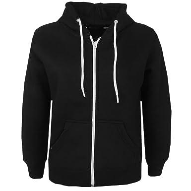 b971f46c3 shelikes New Kids Children Girls Boys Zip UP Plain Hoodie Jacket Hooded  Zipper Sweatshirt -Black