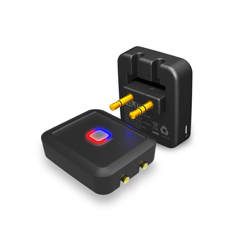 iDARS Airplane Bluetooth Transmitter, Wireless Audio Adapter for Bose, Beats, AirPods, Jaybird, JBL, Sony, Sennheiser, Plantronics and Other Bluetooth Headphones (CSR8670 New IC)