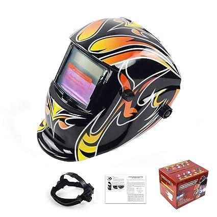 MTSBW Casco de Soldadura energía Solar Auto oscurecimiento Campana Soldador máscara Transpirable Pulido Cascos con Rango