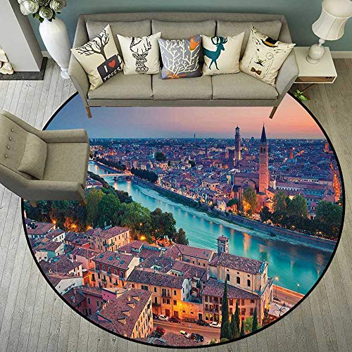 Circularity Floor mat Under Chair Round Indoor Floor mat Entrance Circle Floor mat for Office Chair Wood Floor Circle Floor mat Office Round mat for Living Room Pattern 5'3