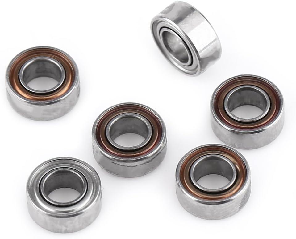 10 Piezas 3x6x2.5 mm MR63ZZ Rodamientos de Bolas de Acero en Miniatura Dobles Blindados Sellados para Impresoras 3D
