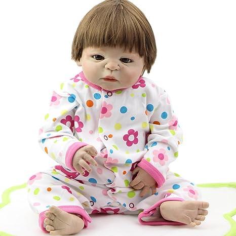 NPK colección 58 cm 23inch Full Body vinilo realista de muñecas Reborn bebé  recién nacido 001e4c1c29ee