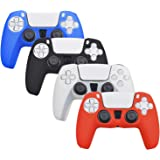 YTWQ 4 Pack Silicone Cover Skin Case for PS5 Controller Sony Playstation 5 DualSense Controller