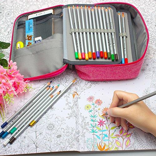 Estuche para lápices Niutop 72 Canvas, caja para lapiceros, neceser cosmético para lápices Prismacolor, lápices de colores Crayola, lápices de colores ...