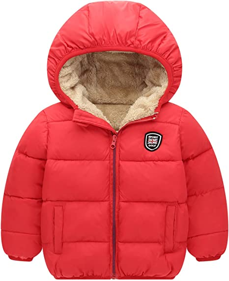 Happy Cherry Kids Hooded Padded Vest Jacket Windproof Cotton Down Waistcoat Warm Outerwear