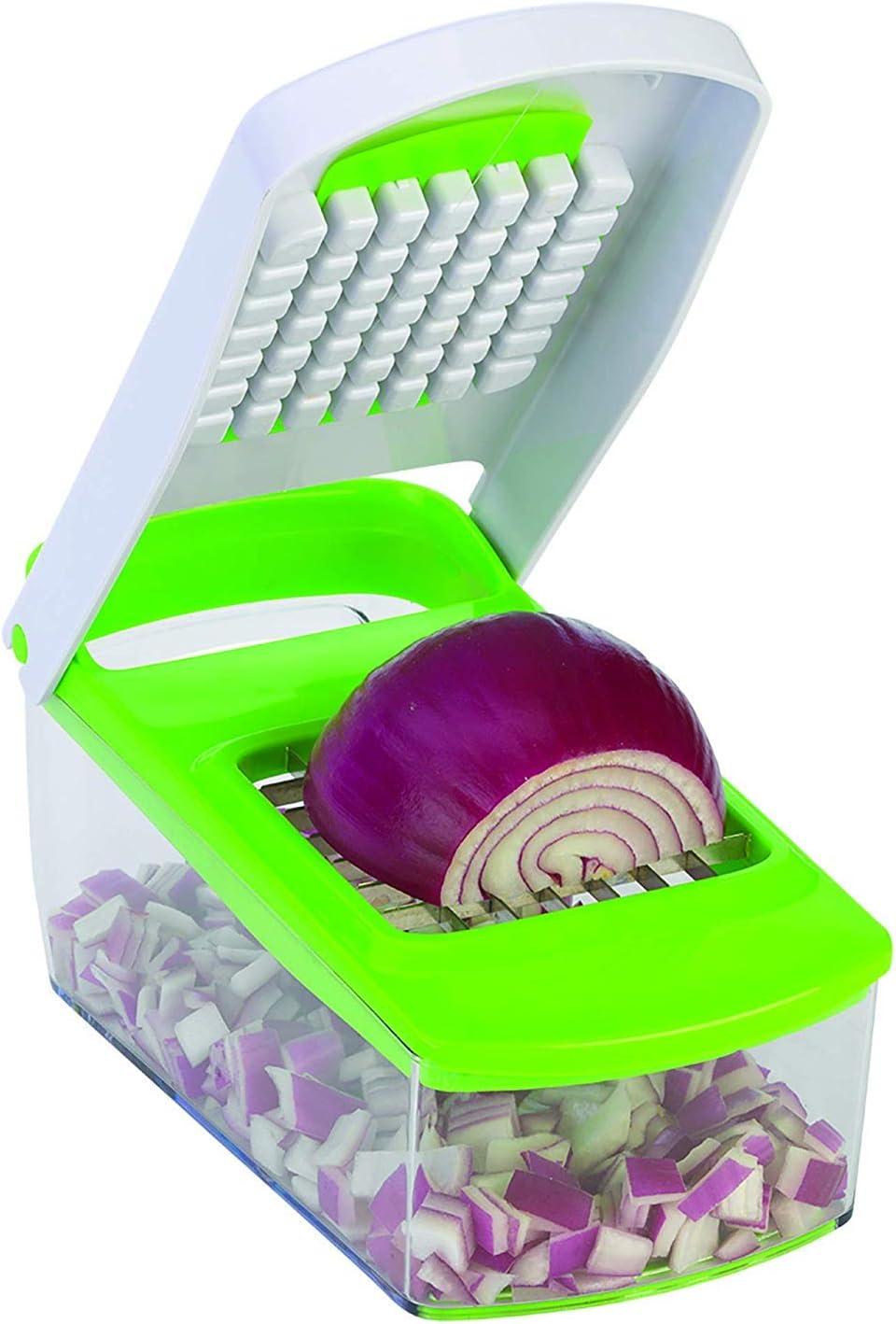 Good Cook 20712 Veggie Vegitable Chopper/Dicer, No Tear Onion chopping, Heavy Duty BPA Free Multi Vegetable-Fruit-Cheese-Onion Chopper-Dicer-Kitchen Cutter