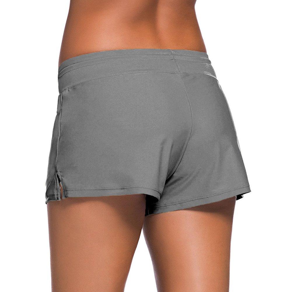 Femme Bas de Maillot de Bain Beachwear Swimwear Bikini Slip Robe de Plage Amincissante Slim Grande Taille avec Cordon Ajustable