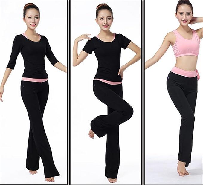 peiwen Femme Yoga v/êtements Confortables Pantalons de Couleur Unie et Veste