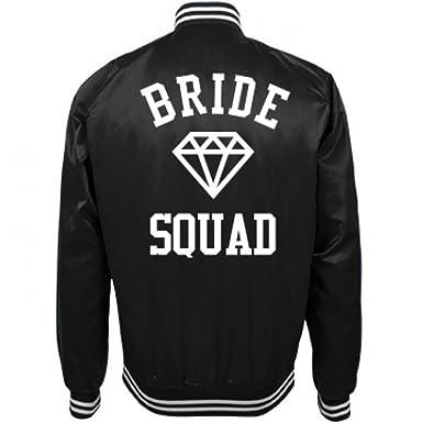 Amazon.com: Bride Squad Trendy Bomber Jacket For Bachelorette ...