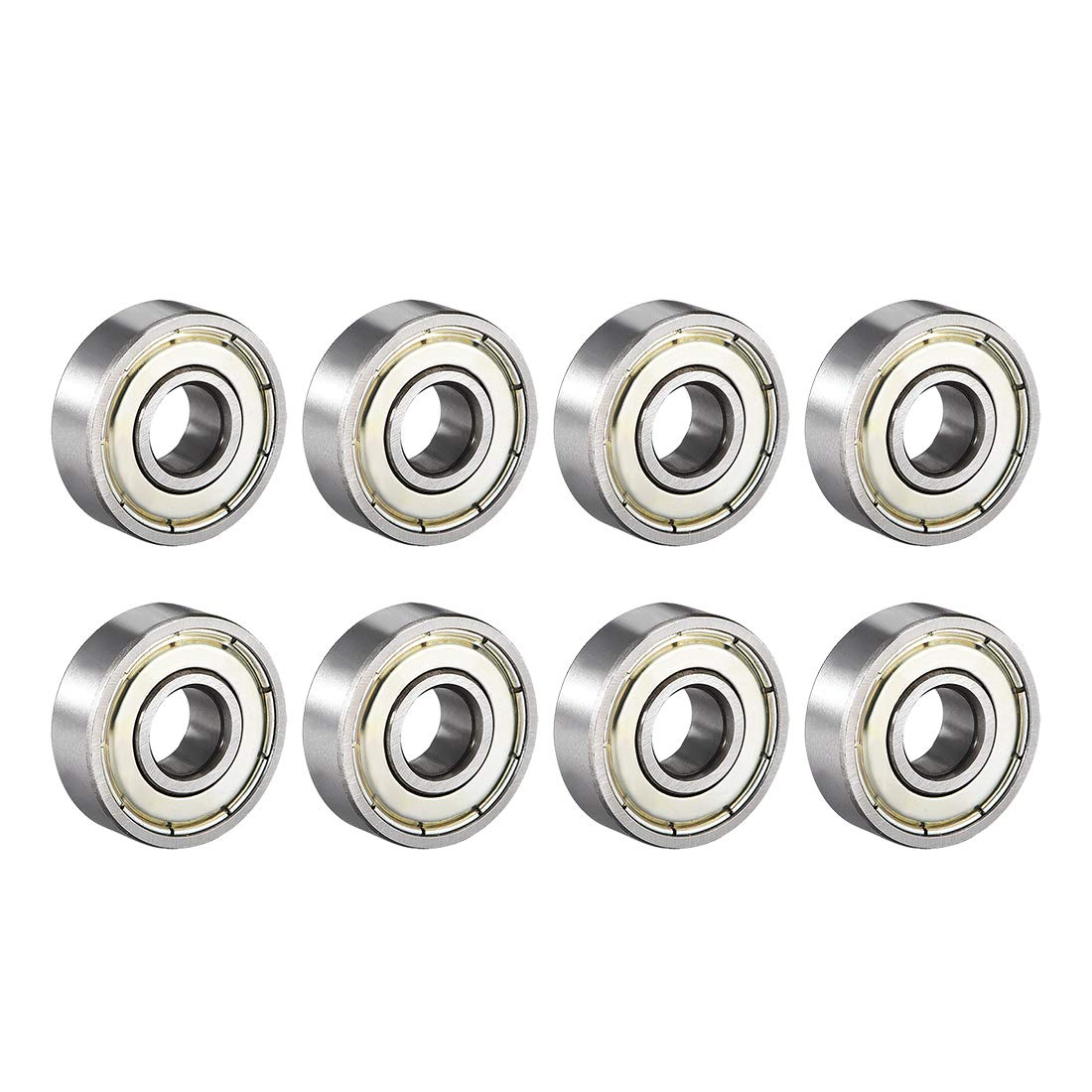 uxcell/® 607ZZ Deep Groove Ball Bearing Double Shield 607-2Z 80017 Pack of 10 7mm x 19mm x 6mm Carbon Steel Bearings