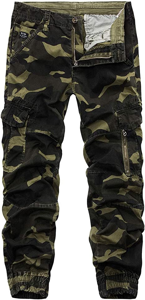 Camo Tactical Wild Combat CargoTrousers Mens Casual Military Pants