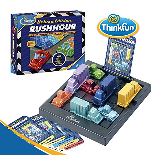 ThinkFun Rush Hour Deluxe Traffic Jam Logic Game and STEM Toy - Tons of Fun with Over 20 Awards Won, International for Over 20 Years