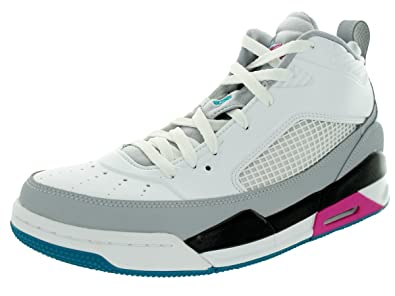 1492faf70fb1 Jordan Nike Men s Flight 9.5 White Trpcl Teal Wlf Gry Blk Basketball Shoe