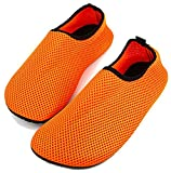 Femizee Barefoot Water Skin Shoes for Women Men's Kids Aqua Socks for Swimming Snorkeling Surf,Orange,38.39 For Sale