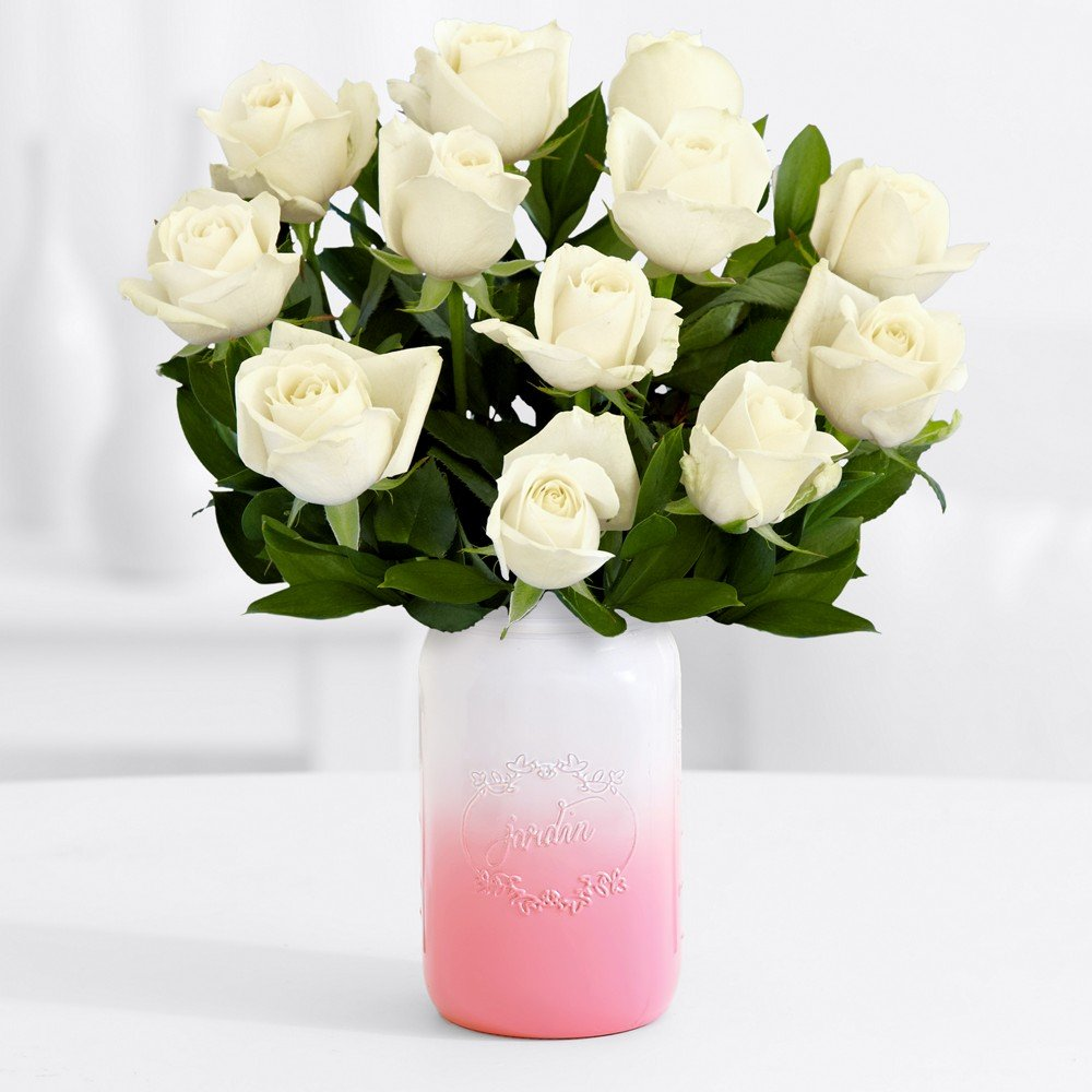 Amazon proflowers 12 count white one dozen long stemmed amazon proflowers 12 count white one dozen long stemmed white roses wfree clear vase flowers fresh cut format rose flowers grocery gourmet reviewsmspy
