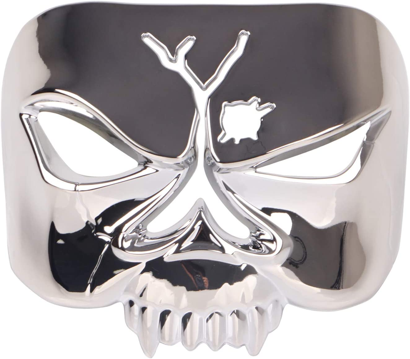 Chrome Zombie Skull Taillight Cover for 1973-2019 Harley-Davidson Motorcycles Kuryakyn 9009 Motorcycle Accent Accessory